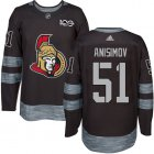 Cheap Adidas Senators #51 Artem Anisimov Black 1917-2017 100th Anniversary Stitched NHL Jersey