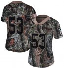 Cheap Nike Patriots #53 Josh Uche Camo Women's Stitched NFL Limited Rush Realtree Jersey
