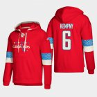 Cheap Washington Capitals #6 Michal Kempny Red adidas Lace-Up Pullover Hoodie