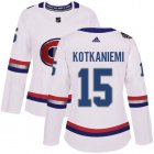 Cheap Adidas Canadiens #15 Jesperi Kotkaniemi White Authentic 2017 100 Classic Women's Stitched NHL Jersey
