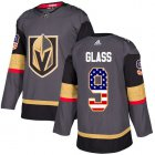 Cheap Adidas Golden Knights #9 Cody Glass Grey Home Authentic USA Flag Stitched NHL Jersey