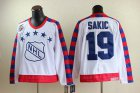 Cheap Nordiques #19 Joe Sakic White All Star CCM Throwback 75TH Stitched NHL Jersey