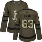 Cheap Adidas Senators #63 Tyler Ennis Green Salute to Service Women's Stitched NHL Jersey