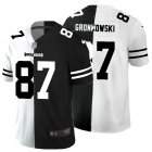 Cheap Tampa Bay Buccaneers #87 Rob Gronkowski Men's Black V White Peace Split Nike Vapor Untouchable Limited NFL Jersey