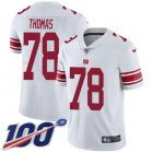 Cheap Nike Giants #78 Andrew Thomas White Youth Stitched NFL 100th Season Vapor Untouchable Limited Jersey