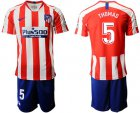 Cheap Atletico Madrid #5 Thomas Home Soccer Club Jersey