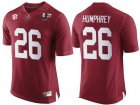 Cheap Men's Alabama Crimson Tide #26 Marlon Humphrey Red 2017 Championship Game Patch Stitched CFP Nike Limited Jersey