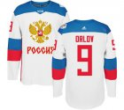 Cheap Team Russia #9 Dmitry Orlov White 2016 World Cup Stitched NHL Jersey
