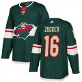 Cheap Adidas Wild #16 Jason Zucker Green Home Authentic Stitched Youth NHL Jersey