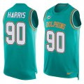 Cheap Nike Dolphins #90 Charles Harris Aqua Green Team Color Men's Stitched NFL Limited Tank Top Jersey