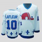 Cheap Nordiques #10 Guy Lafleur Stitched CCM Throwback White NHL Jersey