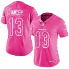Cheap Nike Broncos #13 KJ Hamler Pink Women's Stitched NFL Limited Rush Fashion Jersey