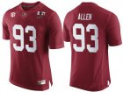 Cheap Men's Alabama Crimson Tide #93 Jonathan Allen Red 2017 Championship Game Patch Stitched CFP Nike Limited Jersey
