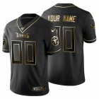 Cheap Tennessee Titans Custom Men's Nike Black Golden Limited NFL 100 Jersey