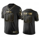 Cheap Raiders Custom Men's Stitched NFL Vapor Untouchable Limited Black Golden Jersey