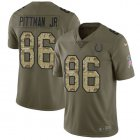 Cheap Nike Colts #86 Michael Pittman Jr. Olive/Camo Youth Stitched NFL Limited 2017 Salute To Service Jersey