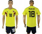 Cheap Colombia #18 Palacios Home Soccer Country Jersey