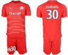 Cheap Marseille #30 Mandanda Red Goalkeeper Soccer Club Jersey