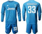 Cheap Juventus #33 Bernardeschi Third Long Sleeves Soccer Club Jersey