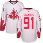 Cheap Team Canada #91 Steven Stamkos White 2016 World Cup Stitched Youth NHL Jersey