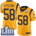 Cheap Nike Rams #58 Cory Littleton Gold Super Bowl LIII Bound Men's Stitched NFL Limited Rush Jersey