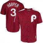 Cheap Philadelphia Phillies #3 Bryce Harper Majestic 1979 Saturday Night Special Cool Base Cooperstown Player Jersey Maroon