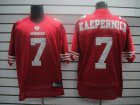 Cheap 49ers #7 Colin Kaepernick Red Stitched NFL Jersey