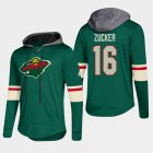 Cheap Wild #16 Jason Zucker Green 2018 Pullover Platinum Hoodie