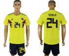 Cheap Colombia #24 W.Tesillo Home Soccer Country Jersey