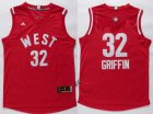 Cheap 2015-16 NBA Western All-Stars Men's #32 Blake Griffin Revolution 30 Swingman Red Jersey