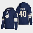 Cheap Toronto Maple Leafs #40 Garret Sparks Blue adidas Lace-Up Pullover Hoodie