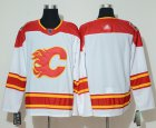 Cheap Adidas Flames Blank White Authentic 2019 Heritage Classic Stitched NHL Jersey