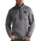 Cheap Carolina Panthers Antigua Fortune Quarter-Zip Pullover Jacket Charcoal