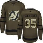 Cheap Adidas Devils #35 Cory Schneider Green Salute to Service Stitched Youth NHL Jersey