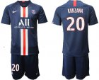 Cheap Paris Saint-Germain #20 Kurzawa Home Soccer Club Jersey