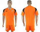 Cheap Sevilla Blank Orange Goalkeeper Soccer Club Jersey