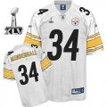 Cheap Steelers #34 Rashard Mendenhall White Super Bowl XLV Stitched NFL Jersey