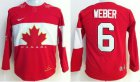 Cheap Team Canada 2014 Olympic #6 Shea Weber Red Stitched Youth NHL Jersey