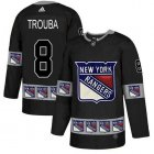 Cheap Adidas Rangers #8 Jacob Trouba Black Authentic Team Logo Fashion Stitched NHL Jersey