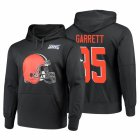Cheap Cleveland Browns #95 Myles Garrett Nike NFL 100 Primary Logo Circuit Name & Number Pullover Hoodie Anthracite