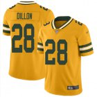 Cheap Nike Packers #28 AJ Dillon Gold Youth Stitched NFL Limited Inverted Legend Jersey