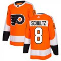 Cheap Adidas Flyers #8 Dave Schultz Orange Home Authentic Stitched Youth NHL Jersey