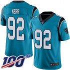 Cheap Nike Panthers #92 Zach Kerr Blue Youth Stitched NFL Limited Rush 100th Season Jersey