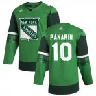 Cheap New York Rangers #10 Artemi Panarin Men's Adidas 2020 St. Patrick's Day Stitched NHL Jersey Green.jpg.jpg