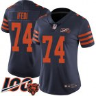 Cheap Nike Bears #74 Germain Ifedi Navy Blue Alternate Women's Stitched NFL 100th Season Vapor Untouchable Limited Jersey