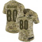 Cheap Nike Bears #80 Jimmy Graham Camo Women's Stitched NFL Limited 2018 Salute To Service Jersey