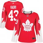 Cheap Adidas Maple Leafs #43 Nazem Kadri Red Team Canada Authentic Women's Stitched NHL Jersey