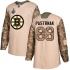 Cheap Adidas Bruins #88 David Pastrnak Camo Authentic 2017 Veterans Day Stanley Cup Final Bound Youth Stitched NHL Jersey