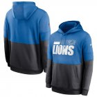 Cheap Detroit Lions Nike Sideline Impact Lockup Performance Pullover Hoodie Blue Charcoal
