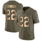 Cheap Nike Jets #22 Trumaine Johnson Olive/Gold Youth Stitched NFL Limited 2017 Salute to Service Jersey